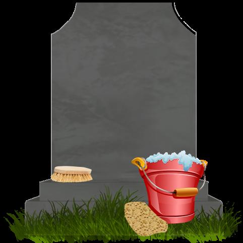 sépulture cavurne nettoyage brosse éponge seau